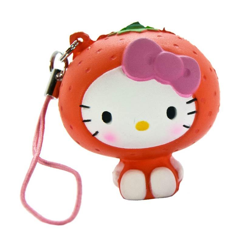 harga Sanrio Hello Kitty Squishy seri Buah-Buahan Gantungan Handphone - Jeruk Blibli.com