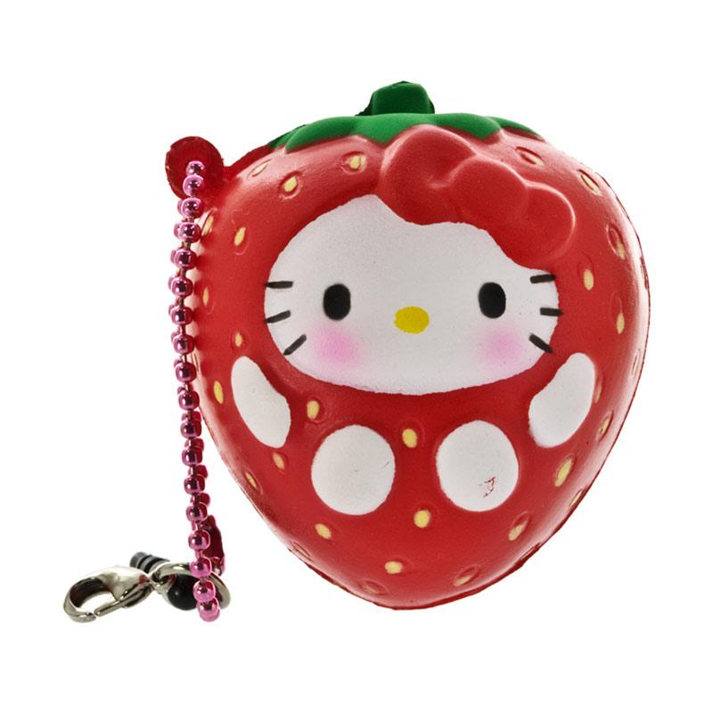 harga Sanrio Hello Kitty Squishy seri Buah-Buahan Stroberi Gantungan Handphone Blibli.com