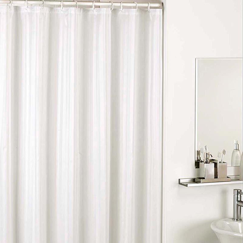 Sanro White Shower Curtain Tirai Kamar Mandi [1.8 x 1.8 m]