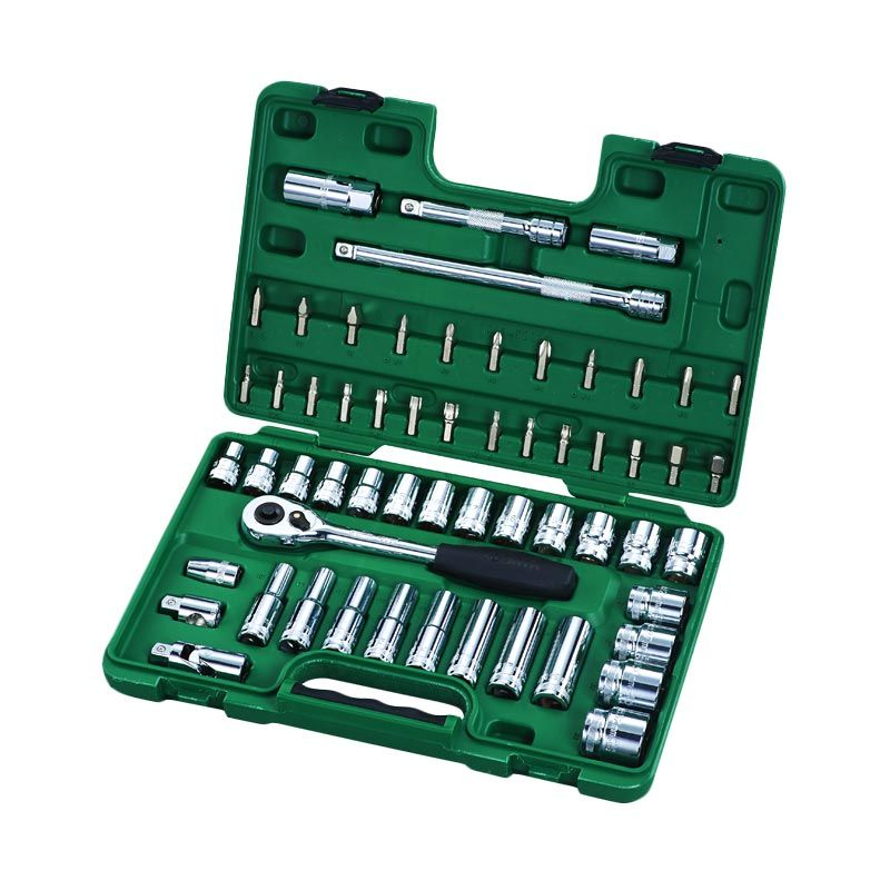 SATA 09007 DR Set Socket Metric [58 Pcs/ 1/2 Inch]