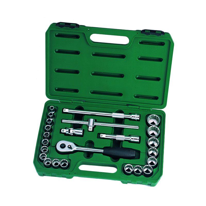 SATA 09060 DR Set Socket Metric [24 Pcs/ 1/2 Inch]