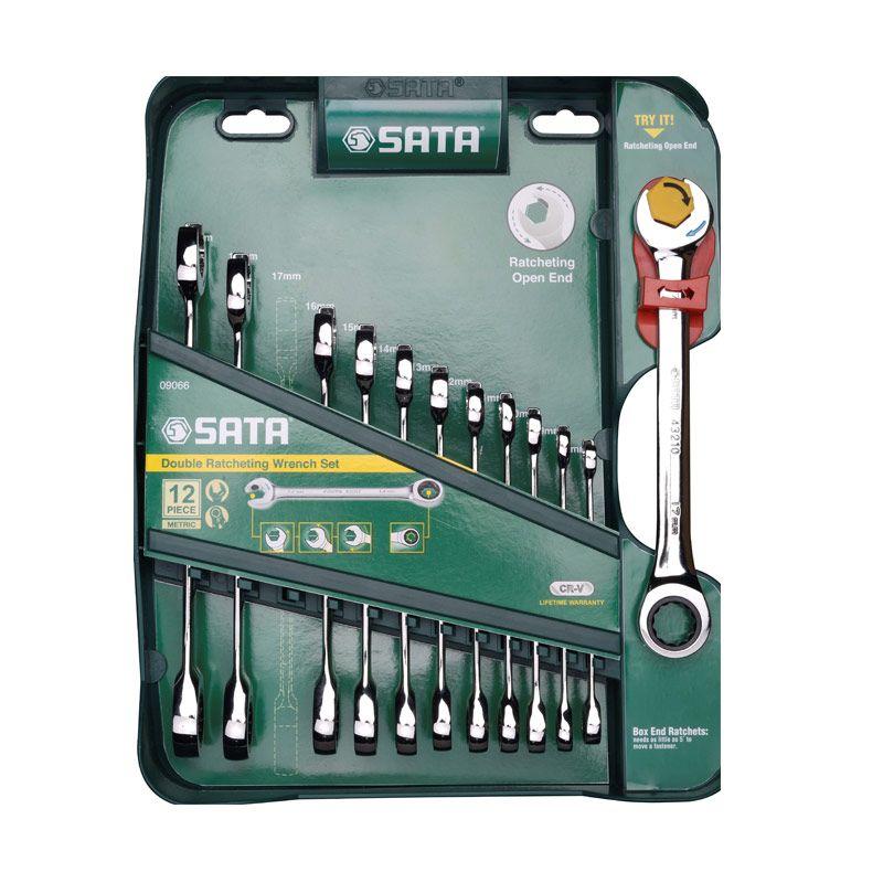 SATA 09066 Combination Ratcheting Set Kunci Metric [12 Pcs]