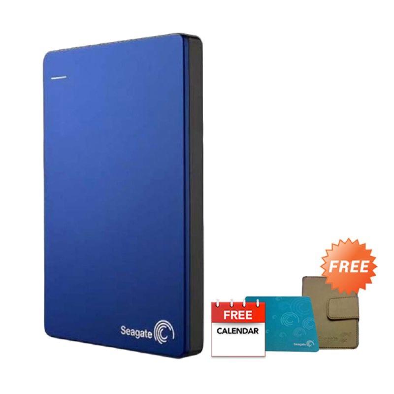 Seagate Backup Plus Blue Hard Disk Eksternal [1 TB] + Flip Case + Mousepad + Kalender