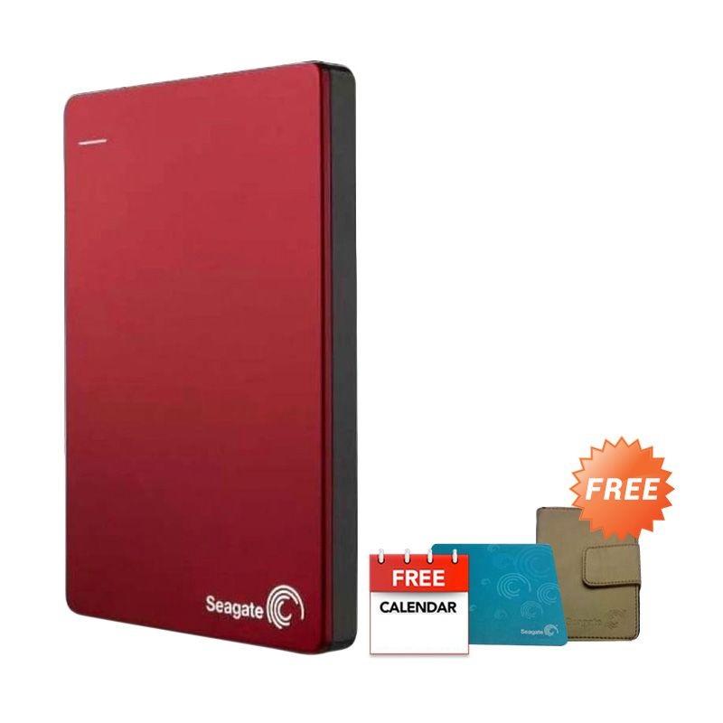 Seagate Backup Plus Red Hard Disk Eksternal [2 TB] + Flip Case + Mousepad + Kalender