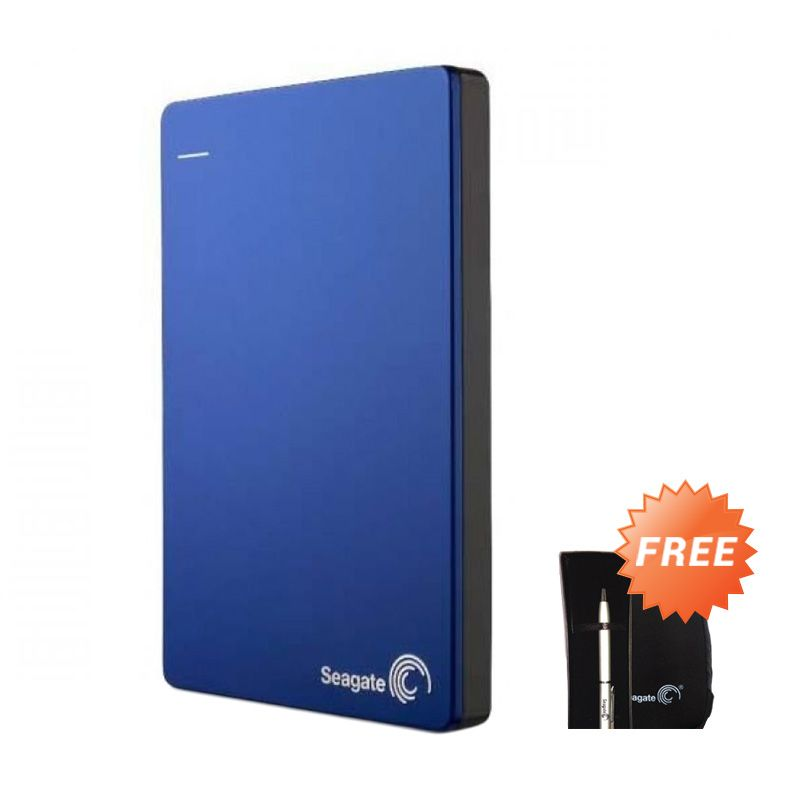 Seagate Backup Plus Slim Hard Disk Eksternal - Biru [1TB / 2.5