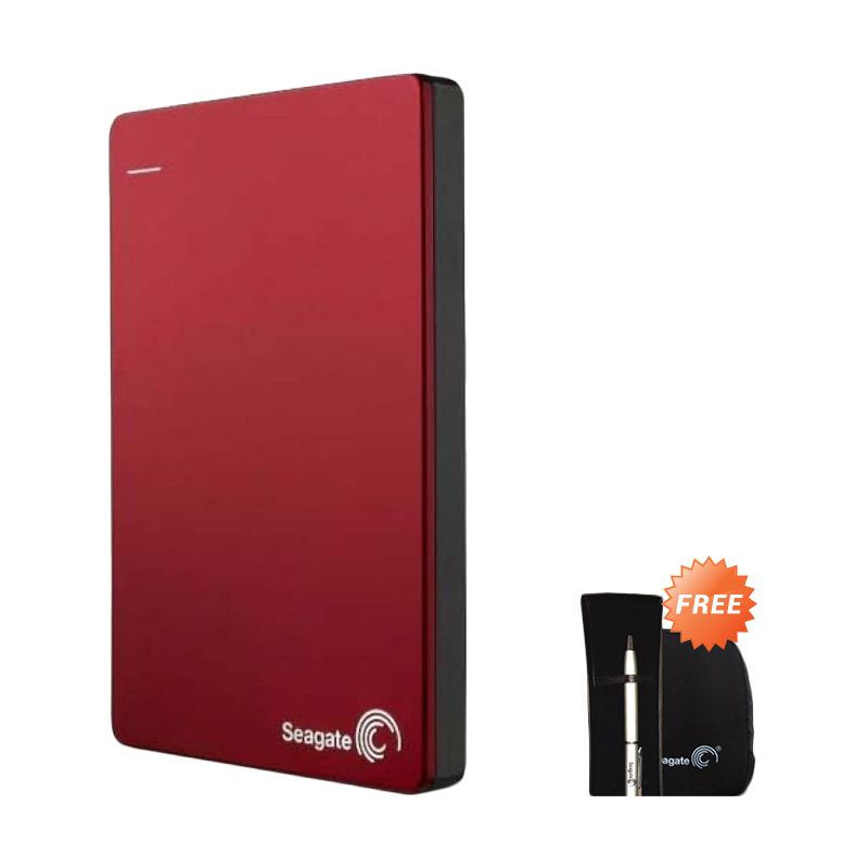 Seagate Backup Plus Slim Hard Disk Eksternal - Merah [1TB / 2.5