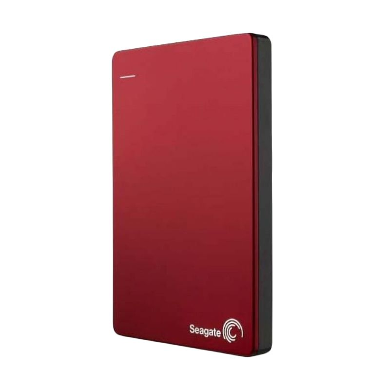 Seagate Backup Plus Slim Hard Disk Eksternal - Merah [1TB / 2.5