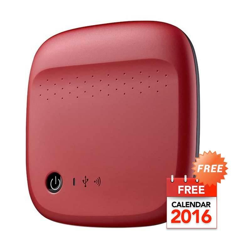 Seagate Wireless Merah Harddisk Eksternal [500 GB] + Kalender 2016