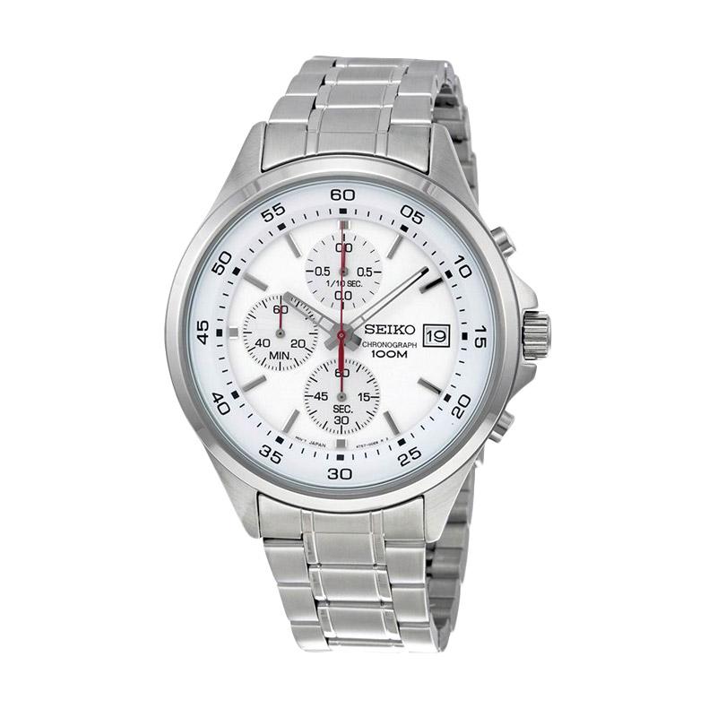 Seiko Chronograph SKS473P1 Silver Jam Tangan Pria