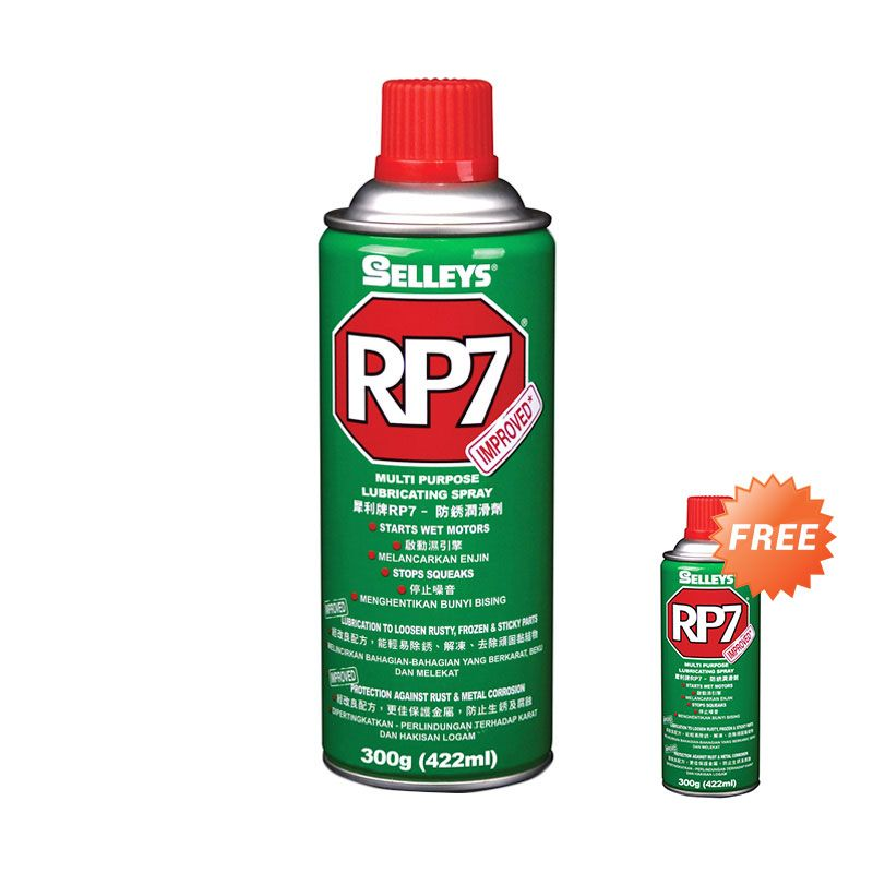 Promo Selleys RP7 Rust Prevention & Lubricant Spray [300 gr] + Free RP7 Rust Prevention & Lubricant Spray 150 gr