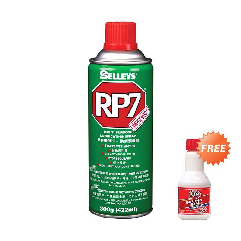 Selleys RP7 Rust Prevention & Lubricant Spray Cairan Pembersih Mobil [150 gr] + STP Super Heavy Duty Brake Fluid Dot 3