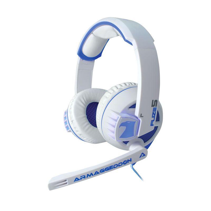 Armaggeddon Headset Fuze 5 [mic] White Blue