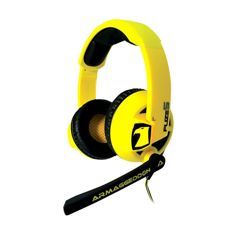 harga Armaggeddon Headset Fuze 5 [mic] Yellow Blibli.com