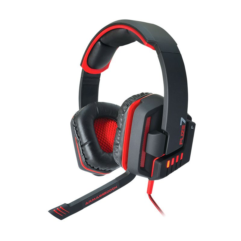 Armaggeddon Headset Fuze 7 [mic] Black Red