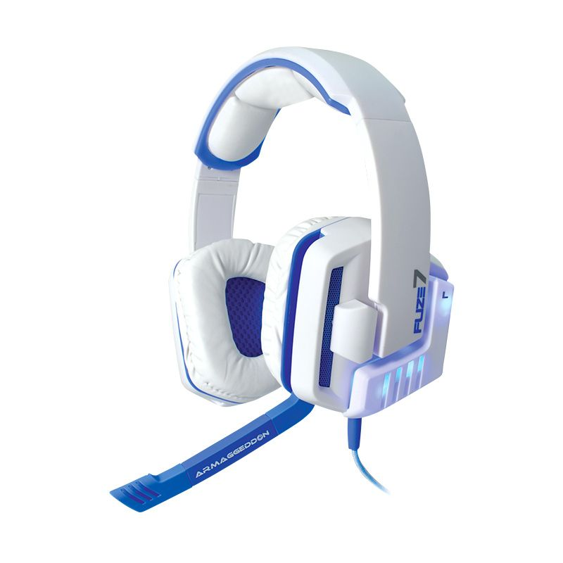 Armaggeddon Headset Fuze 7 [mic] White Blue