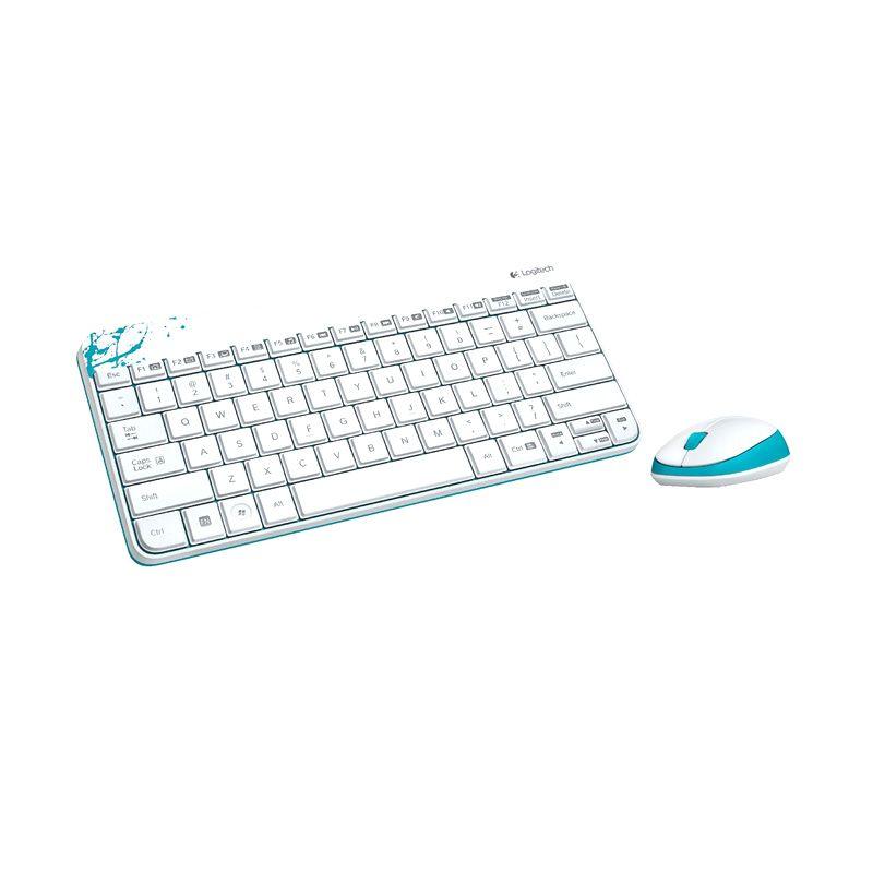 Logitech Combo MK240 920-006499 White Wireless Keyboard and Mouse