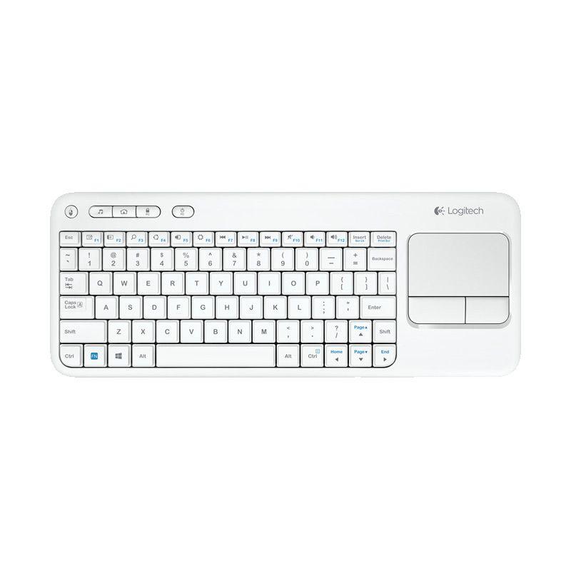 Logitech Wireless Touch K400r 920-005888 White Keyboard