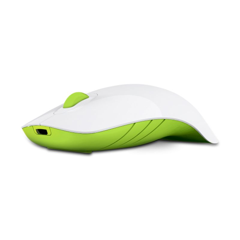 Powerlogic Shark White Green Mouse USB