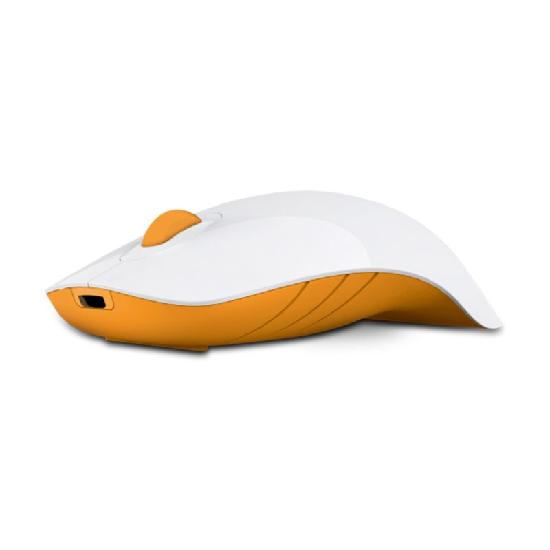Powerlogic Shark White Orange Mouse USB