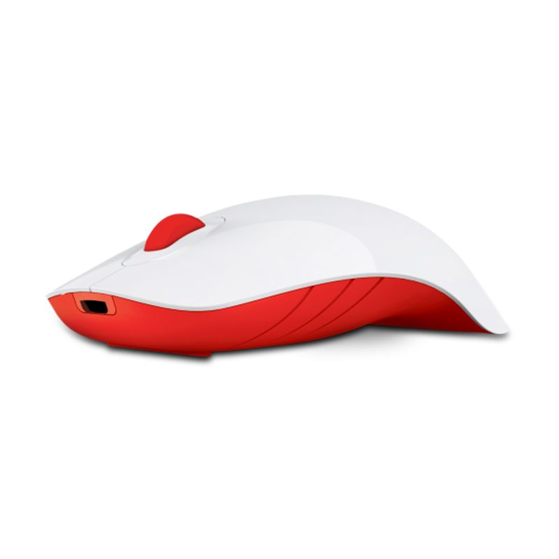 Powerlogic Shark White Red Mouse USB