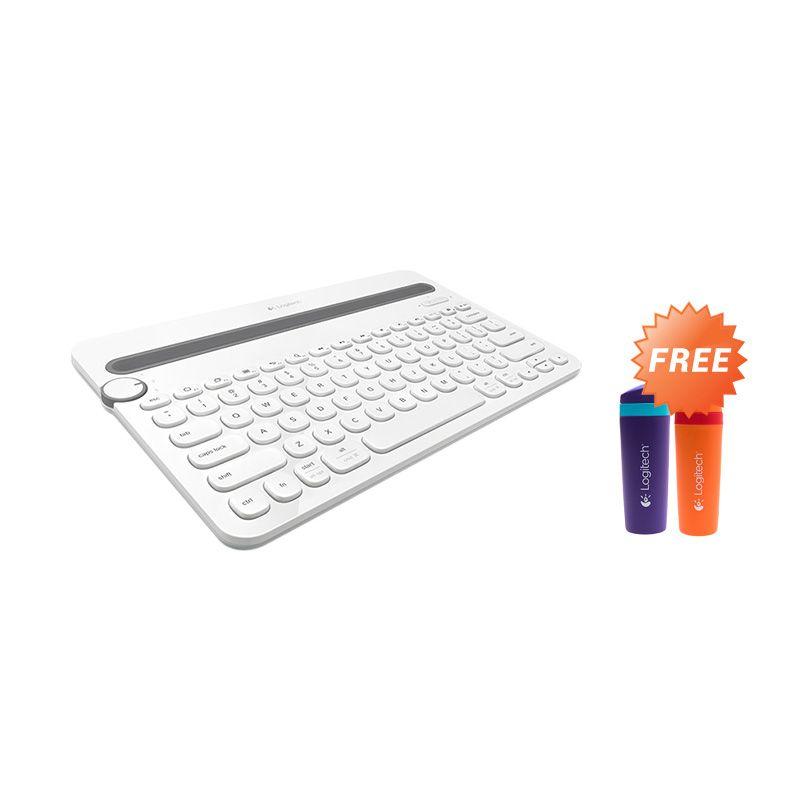 Promo Logitech K480 Bluetooth Multi-Device Keyboard + Tumbler