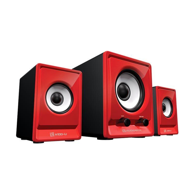 Sonicgear Speaker 2.1 AudioBox A100-U Merah