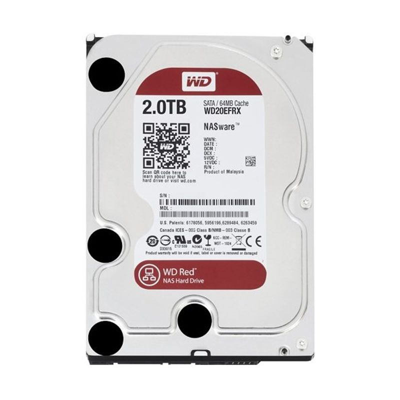 WD WD20EFRX Hard Disk Internal Red [3.5 Inch, 2 TB]