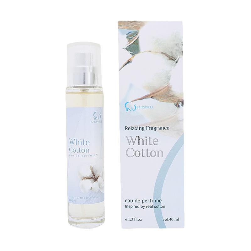 Senswell Eau De Relaxing White Cotton Parfum EDP Wanita [40 ML]