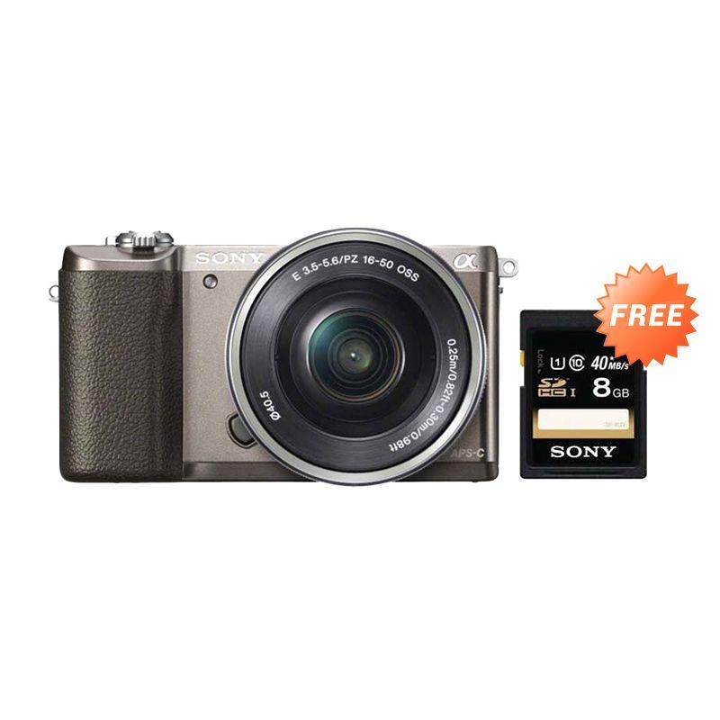 Sony Alpha A5100 KIT 16-50mm f/3.5-5.6 OSS Brown Kamera Mirrorless