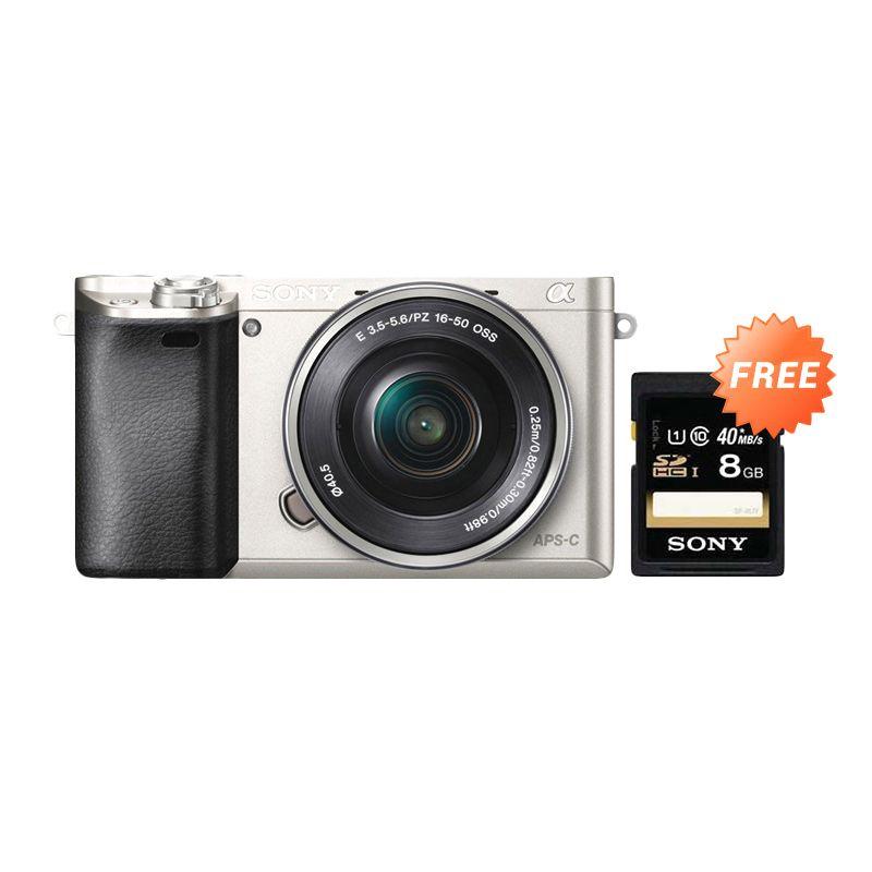 Sony Alpha A6000 Mirrorless Digital Camera 16-50mm Lens - Silver