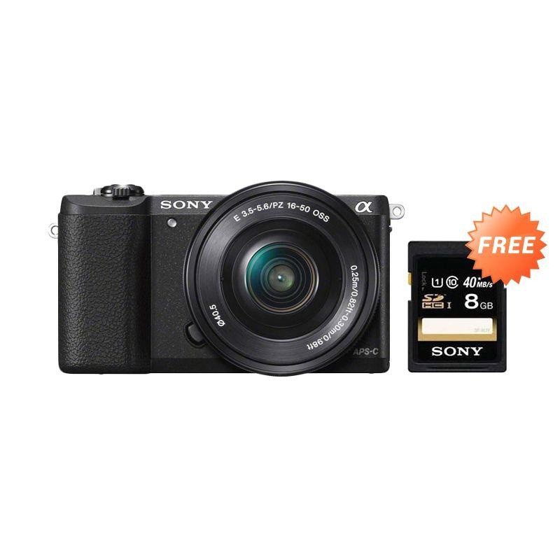 Sony alpha A5100 L KIT 16-50mm f/3.5-5.6 OSS Hitam Kamera Mirrorless