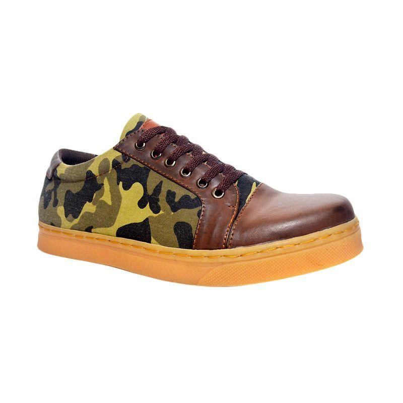 Murdoock 1992 Soldier Camo Sneakers Army-Brown Sepatu Pria