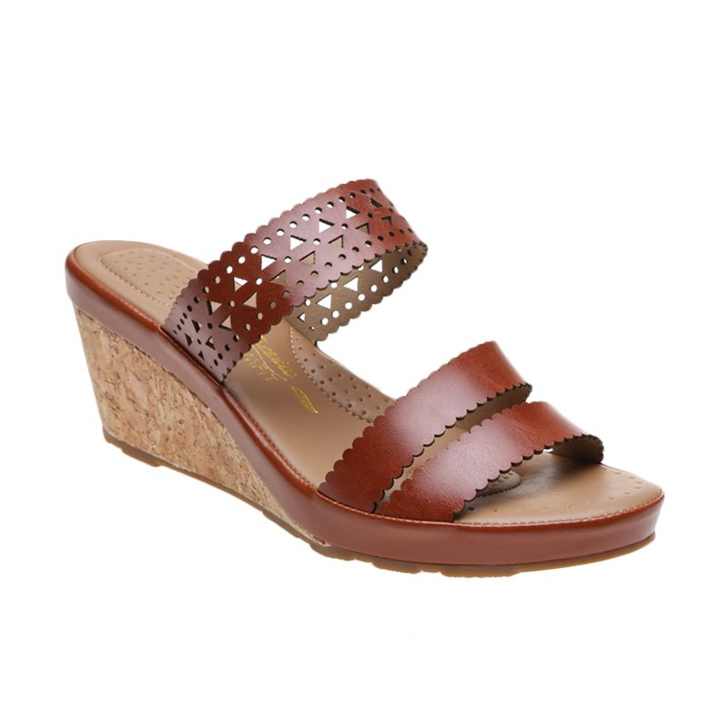 Bata Ladies Barbara 691-4259 Brown Sandal Wanita