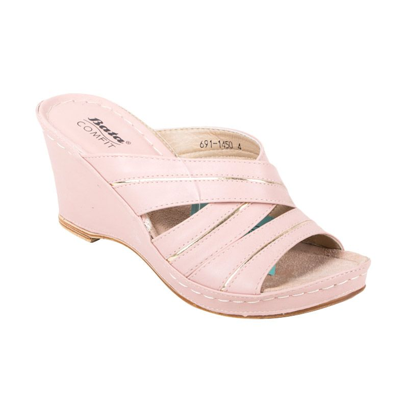 Bata Ladies Toinette Dusty Pink Wedges