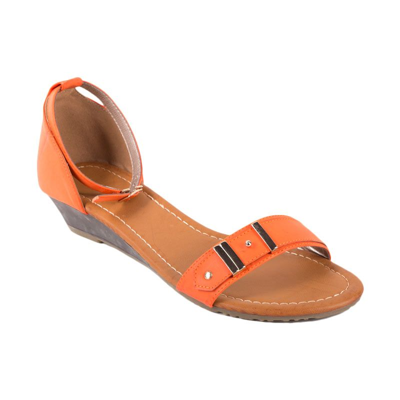Bata Ladies Ulka Orange Sandal Flat