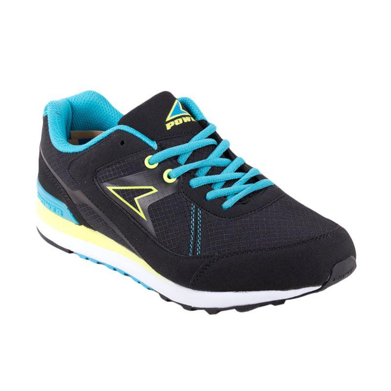 Power Stride C115 Black Cyan Sepatu Casual