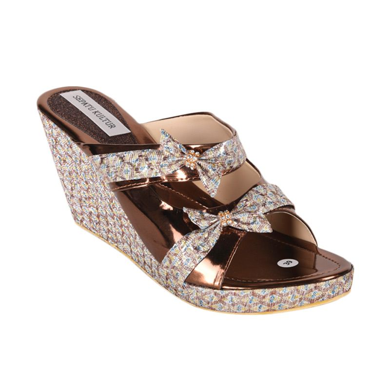 Sepatu Kultur Mahogany BLI-050 Brown Sandal Wanita