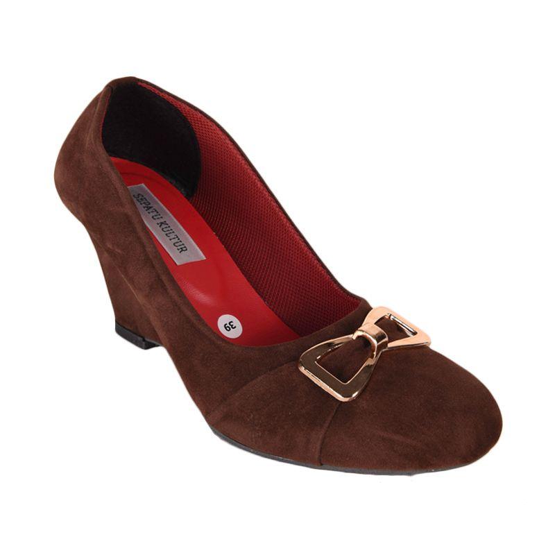 Sepatu Kultur Malia BLI-038 Dark Brown Sepatu Wanita