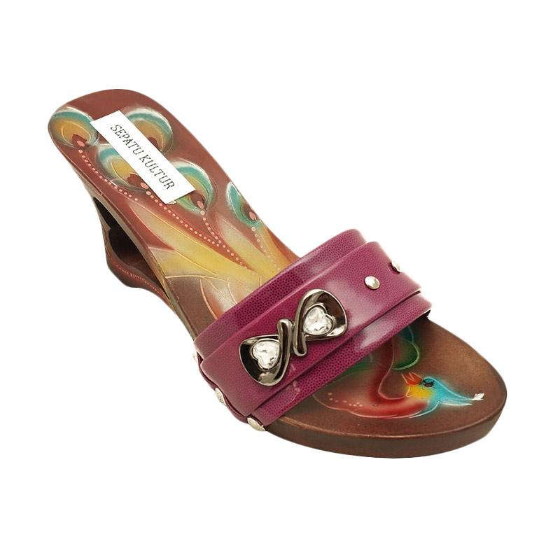 harga Sepatu Kultur Mulan Red Modern Bakiak Sandal Wanita Blibli.com