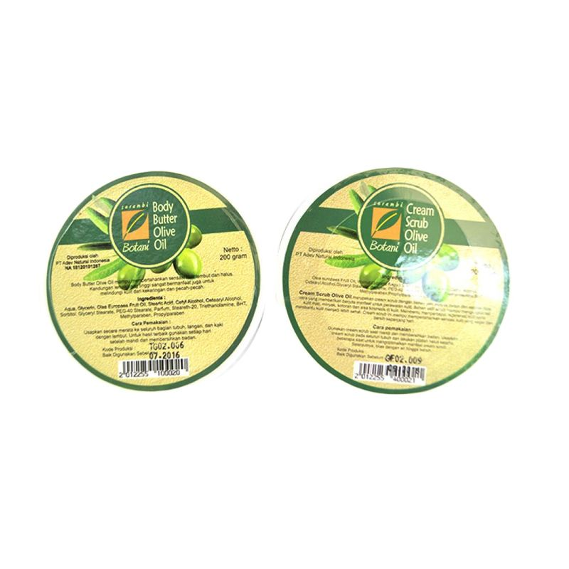 Serambi Botani Olive Paket Body Scrub