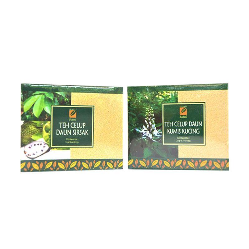 Serambi Botani Paket Teh Herbal Minuman Kesehatan [Daun Sirsak dan Kumis Kucing]