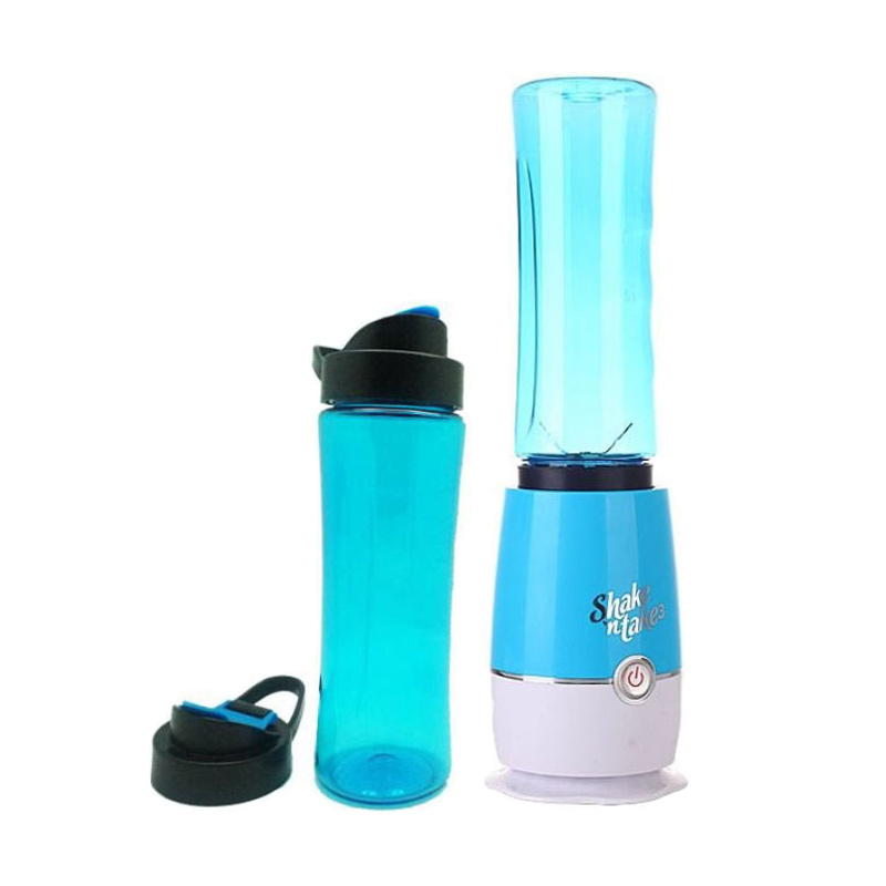 Shake N Take 3rd Gen New With Extra Cup - Biru