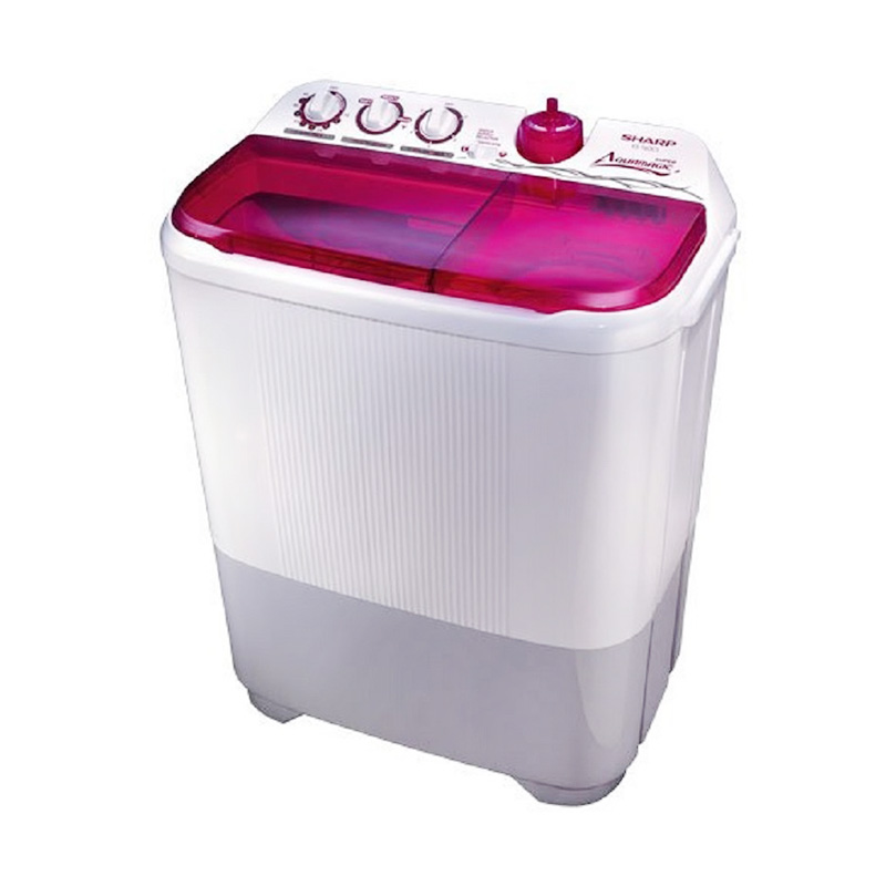 harga Sharp ES-T95CR-PK Twintub Pink Mesin Cuci [Low Watt/Super Aquamatic] Blibli.com