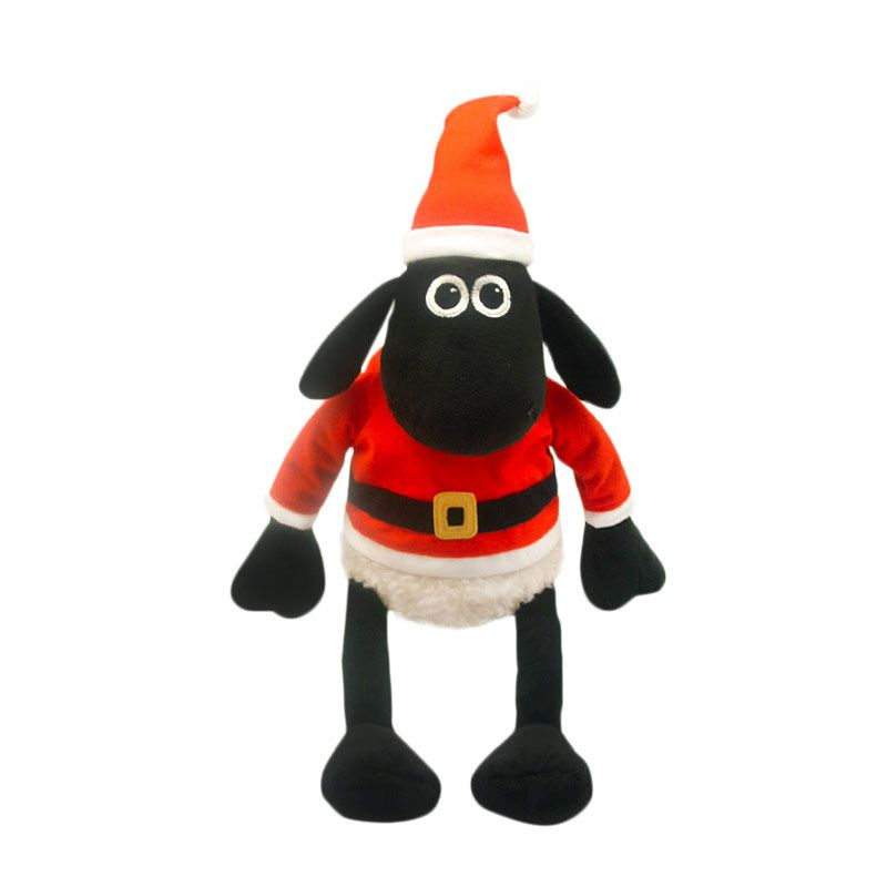Shaun the sheep - Shaun the sheep with Santa coat & hat 20cm
