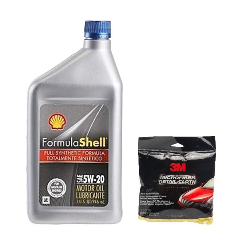 Promo Shell Formula 5W/20 [946 mL] + Free 3M Microfibre Detailing Cloth