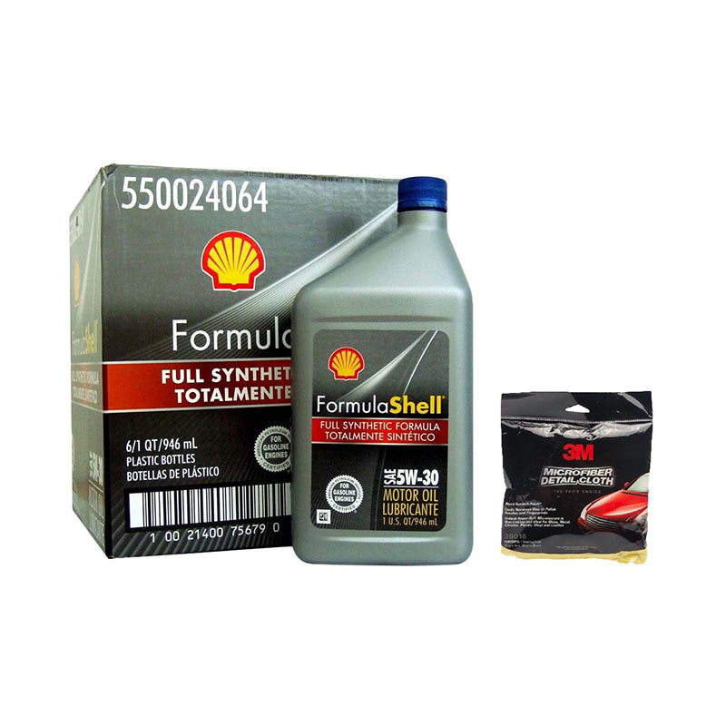 Promo Buy 1 Get 1 - Shell Formula 5W/30 [946 mL] + 3M Microfibre Detailing Cloth