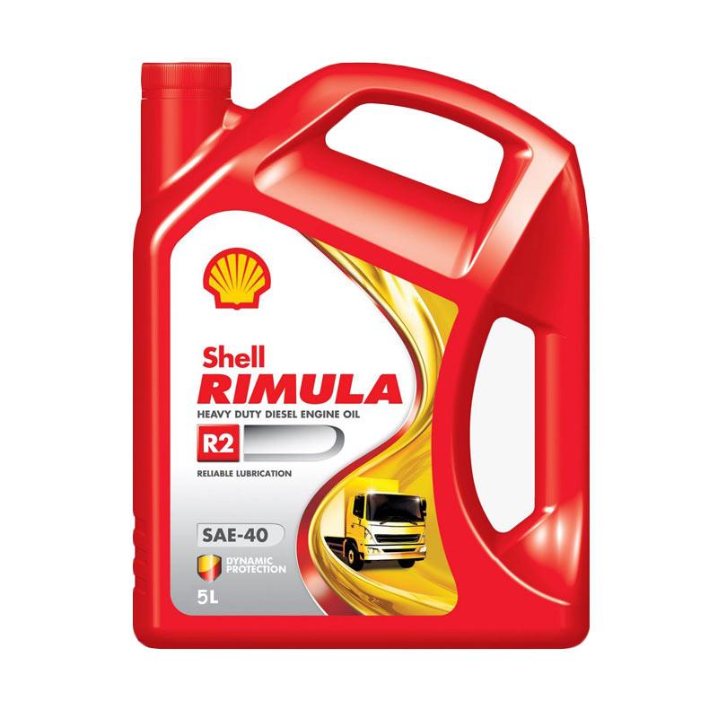 Shell Rimula R2 SAE-40 Oli Mobil Mesin Diesel [5 L]
