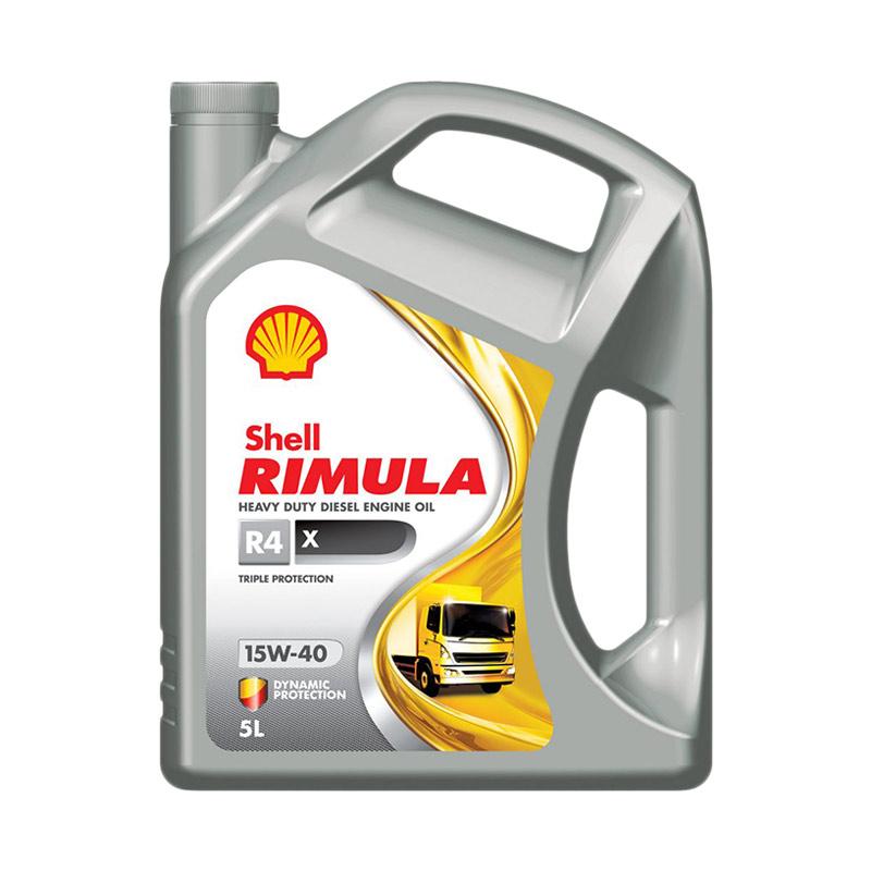 Shell Rimula R4X 15W-40 Oli Mobil Mesin Diesel [5 Liter]
