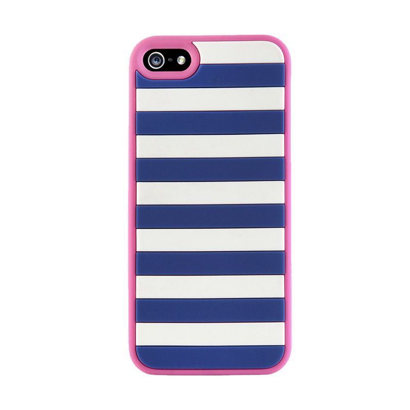 Agent 18 iPhone 5 StripeVest - Blue/Pink
