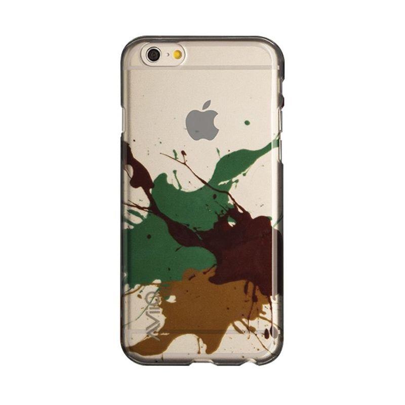 AviiQ Splash Art Brown Blue Casing for iPhone 6